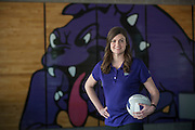 Fayetteville, Arkansas:  Jessica Phelan, Volleyball Coach at Fayetteville High School in Fayetteville, AR shot for Fayetteville A&P and Sells Agency.<br /> <br /> Photography by Wesley Hitt