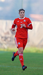 ZENICA, BOSNIA AND HERZEGOVINA - Tuesday, November 28, 2017: Wales' Gemma Evans during the FIFA Women's World Cup 2019 Qualifying Round Group 1 match between Bosnia and Herzegovina and Wales at the FF BH Football Training Centre. (Pic by David Rawcliffe/Propaganda)