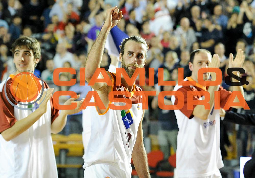 DESCRIZIONE : Roma Lega A 2012-13 Acea Virtus Roma Lenovo Cantu Gara 2<br /> GIOCATORE : Luigi Datome<br /> CATEGORIA : esultanza<br /> SQUADRA : Acea Virtus Roma<br /> EVENTO : Campionato Lega A 2012-2013 Play Off Semifinali Gara2<br /> GARA : Acea Virtus Roma Lenovo Cantu Gara 2<br /> DATA : 27/05/2013<br /> SPORT : Pallacanestro <br /> AUTORE : Agenzia Ciamillo-Castoria/N. Dalla Mura<br /> Galleria : Lega Basket A 2012-2013 <br /> Fotonotizia : Roma Lega A 2012-13 Acea Virtus Roma Lenovo Cantu Gara 2