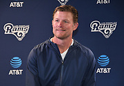 Apr 6, 2018; Thousand Oaks, CA, USA; Los Angeles Rams general manager Les Snead at a press conference at Cal Lutheran.