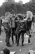 Punks in Brockwell Park, London, 1984