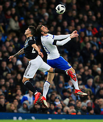 Bryan Cristante of Italy challenges Fabricio Bustos of Argentina - Mandatory by-line: Matt McNulty/JMP - 23/03/2018 - FOOTBALL - Etihad Stadium - Manchester, England - Argentina v Italy - International Friendly