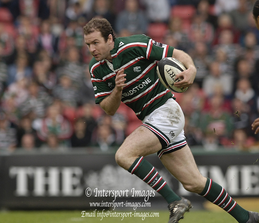Leicester, ENGLAND.  Geordan Murphy, Guinness Premiership Semi-Final. Leicester Tigers vs London Irish, at Welford Road, 05.2006. © Peter Spurrier/Intersport-images.com,  / Mobile +44 [0] 7973 819 551 / email images@intersport-images.com.   [Mandatory Credit, Peter Spurier/ Intersport Images].14.05.2006