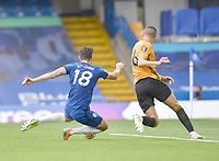 Football - 2019 / 2020 Premier League - Chelsea vs. Wolverhampton Wanderers<br /> <br /> Chelsea's Olivier Giroud scores his side's second goal, at Stamford Bridge.<br /> <br /> COLORSPORT/ASHLEY WESTERN