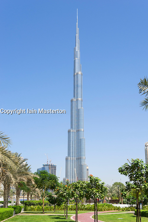 Burj Khalifa tower in Dubai United Arab Emirates