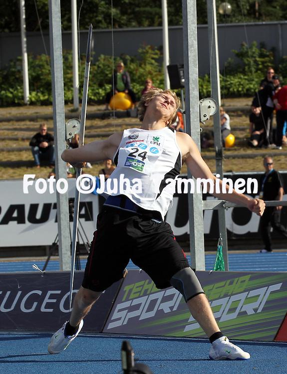26.8.20112, Hiihtostadion, Lahti..Yleisurheilun Kalevan Kisat 2012. .Miesten keihäs..Lassi Etelätalo - Joensuun Kataja