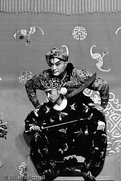 Beijing opera performers.<br /> <br /> Images in this gallery were taken using film and are presented in small, low resolution files - high resolution scans or the original slide/negative are also available.