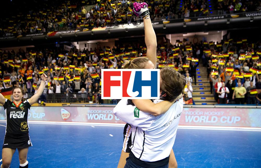 BERLIN - Indoor Hockey World Cup<br /> Final: Netherlands - Germany<br /> Germany wins the world championship.<br /> foto: Anne Schroeder and Xavier Reckinger.<br /> WORLDSPORTPICS COPYRIGHT FRANK UIJLENBROEK