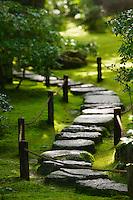 Japan Kyoto Okochi Denjiro stone path in Japanese garden