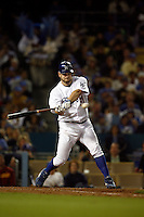 May 12, 2007: Starting pitcher Brad Penny swings at bat as the Los Angeles Dodgers defeated the Cincinnati Reds 7-3 at Dodger Stadium in Los Angeles, CA.