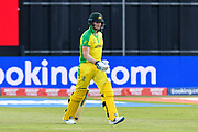 Steve Smith of Australia walks out to bat during the ICC Cricket World Cup 2019 match between Afghanistan and Australia at the Bristol County Ground, Bristol, United Kingdom on 1 June 2019.