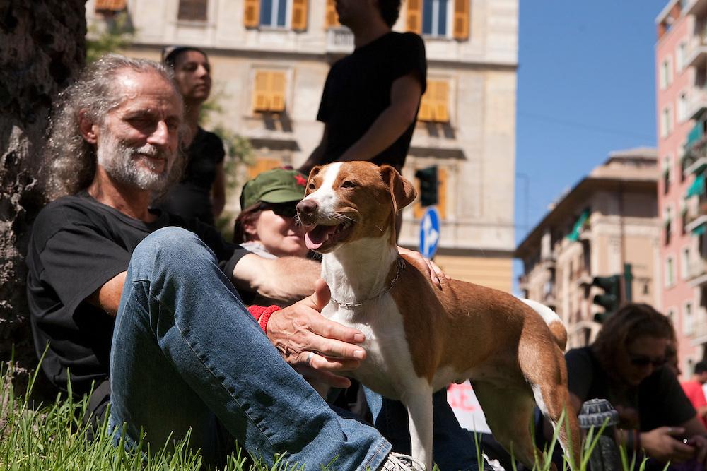 Commemorazione di Carlo Giuliani in Piazza Alimonda a Genova
