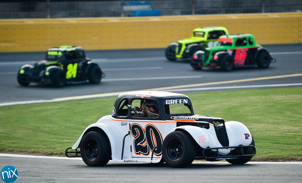 Tyler Green during the Summer Shootout Series final at Charlotte Motor Speedway Tuesday night. (Photo by James Nix)