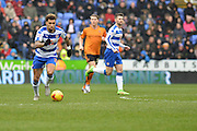 Reading FC midfielder Danny Williams on the attack during the Sky Bet Championship match between Reading and Wolverhampton Wanderers at the Madejski Stadium, Reading, England on 6 February 2016. Photo by Mark Davies.