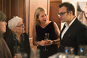 JOAN JONAS; IWONA BLAZWICK, OBE; VADIM GRIGORIANWhitechapel Gallery Art Icon Gala, supported by the Swarovski Foundation, Honoring the lifetime achievement of Joan Jonas. Christ Church Spitafields. London.