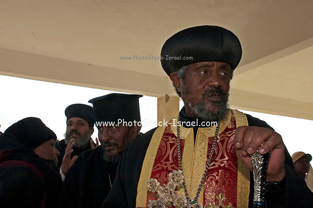 Ethiopian Priest at a religious gathering