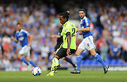 Brighton defender, full back, Gaetan Bong in action during the Sky Bet Championship match between Ipswich Town and Brighton and Hove Albion at Portman Road, Ipswich, England on 29 August 2015.