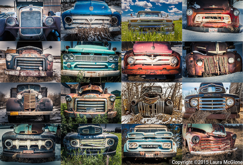 Antique Vintage Abandoned Trucks, Alberta Canada