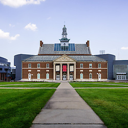 Photo of Tangeman University Center at the University of Cincinnati. Tangeman University Center is a multipurpose facility used for meetings, conferences and other events. Image is high resolution and was taken in 2012.