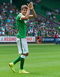 03.08.2014, Weserstadion, Bremen, GER, SV Werder Bremen, Tag der Fans, im Bild Luca-Milan Zander (SV Werder Bremen #25) // during the supporters day of the german 1st Bundesliga Club SV Werder Bremen at the Weserstadion in Bremen, Germany on 2014/08/03. EXPA Pictures © 2014, PhotoCredit: EXPA/ Andreas Gumz<br /> <br /> *****ATTENTION - OUT of GER*****