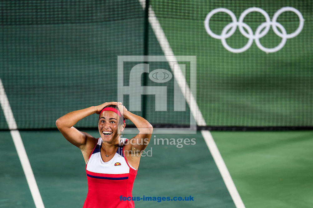 Monica Puig of Puerto Rico wins the Gold Medal in the Women's Tennis Singles on day eight of the XXXI 2016 Olympic Summer Games in Rio de Janeiro, Brazil.<br /> Picture by EXPA Pictures/Focus Images Ltd 07814482222<br /> 13/08/2016<br /> *** UK &amp; IRELAND ONLY ***<br /> <br /> EXPA-EIB-160814-0013.jpg
