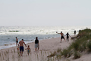 Sandhammaren. People playing at the beach.