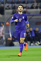 ZAGREB, CROATIA - NOVEMBER 09:  Panagiotis Tachtsidis of Greece runs during the FIFA 2018 World Cup Qualifier play-off first leg match between Croatia and Greece at Maksimir Stadium on November 9, 2017 in Zagreb, Croatia. (Luka Stanzl/PIXSELL)