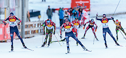 19.12.2015, Nordische Arena, Ramsau, AUT, FIS Weltcup Nordische Kombination, Langlauf, im Bild v.l: Magnus Moan (NOR), Magnus Krog (NOR), Jarl Magnus Riiber (NOR) // Magnus Moan of Norway, Magnus Krog of Norway, Jarl Magnus Riiber of Norway during Cross Country Competition of FIS Nordic Combined World Cup, at the Nordic Arena in Ramsau, Austria on 2015/12/19. EXPA Pictures © 2015, PhotoCredit: EXPA/ JFK