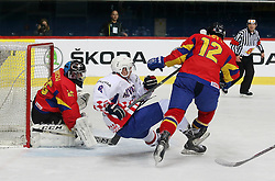 20.04.2016, Dom Sportova, Zagreb, CRO, IIHF WM, Rumaenien vs Kroatien, Division I, Gruppe B, im Bild BLAGUS Mislav // during the 2016 IIHF Ice Hockey World Championship, Division I, Group B, match between Romania and Croatia at the Dom Sportova in Zagreb, Croatia on 2016/04/20. EXPA Pictures © 2016, PhotoCredit: EXPA/ Pixsell/ Dalibor Urukalovic<br /> <br /> *****ATTENTION - for AUT, SLO, SUI, SWE, ITA, FRA only*****