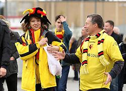 Watford fans arrive at Wembley - Mandatory by-line: Robbie Stephenson/JMP - 24/04/2016 - FOOTBALL - Wembley Stadium - London, England - Crystal Palace v Watford - The Emirates FA Cup Semi-Final