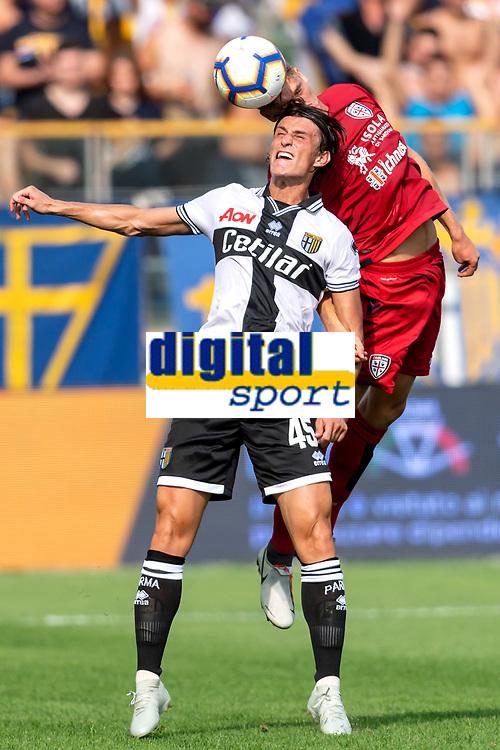 Roberto Inglese Parma Filippo Romagna Cagliari <br /> Parma 22-09-2018 Stadio Ennio Tardini Football Calcio Serie A 2018/2019 Parma - Cagliari <br /> Foto Andrea Staccioli / Insidefoto