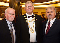 Cllr Donal Lyons, Mayor of Galway Cllr Frank Fahy and Ronan Scully Gorta Self Help Africa at the Gorta Self Help Africa Annual Ball at the Galway Bay Hotel, Salthill Galway.<br /> Photo:Andrew Downes, xposure.