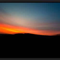 Desert sunrise apstract
