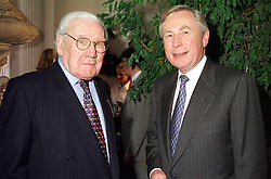Left to right, LORD KING and LORD MARSHALL, at a <br /> reception in London on 12th July 2000.OGG 14<br /> &copy; Desmond O&rsquo;Neill Features:- 020 8971 9600<br />    10 Victoria Mews, London.  SW18 3PY <br /> www.donfeatures.com   photos@donfeatures.com<br /> MINIMUM REPRODUCTION FEE AS AGREED.<br /> PHOTOGRAPH BY DOMINIC O'NEILL