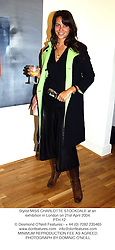 Stylist MISS CHARLOTTE STOCKDALE at an exhibition in London on 21st April 2004.<br /> PTH 12