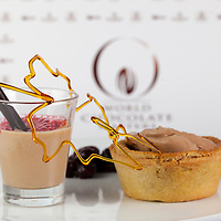 """Dimuthu Perera's Classic Dessert Revisited """"Tarte au Sucre"""". World Chocolate Masters Canadian Selection, January 20, 2013."""