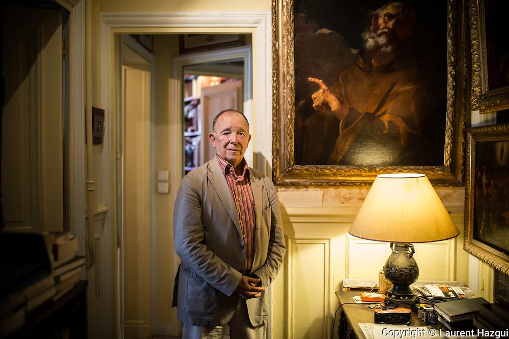 12072017. Paris. Portrait de Jean-Pierre Changeux, neurobiologiste français, chez lui.