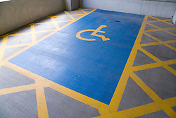 Car parking space for people with disabilities,