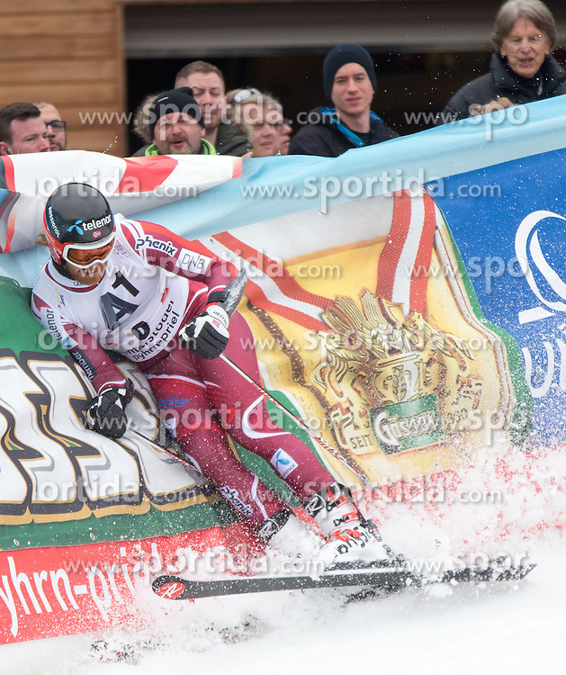 28.02.2016, Hannes Trinkl Rennstrecke, Hinterstoder, AUT, FIS Weltcup Ski Alpin, Hinterstoder, Riesenslalom, Herren, 2. Lauf, im Bild Leif Kristian Haugen (NOR) // Leif Kristian Haugen of Norway reacts after his 2nd run of men's Giant Slalom of Hinterstoder FIS Ski Alpine World Cup at the Hannes Trinkl Rennstrecke in Hinterstoder, Austria on 2016/02/28. EXPA Pictures © 2016, PhotoCredit: EXPA/ Johann Groder