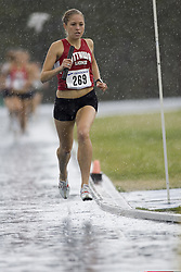 Robertson, Elysia competing in the women's distance medley relay at the 2007 OTFA Junior-Senior Championships in Ottawa.