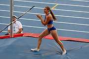 Alysha Newman, Canada, Women's Pole Vault, during the Diamond League Meeting at Stade Charlety, Paris, France on 24 August 2019.