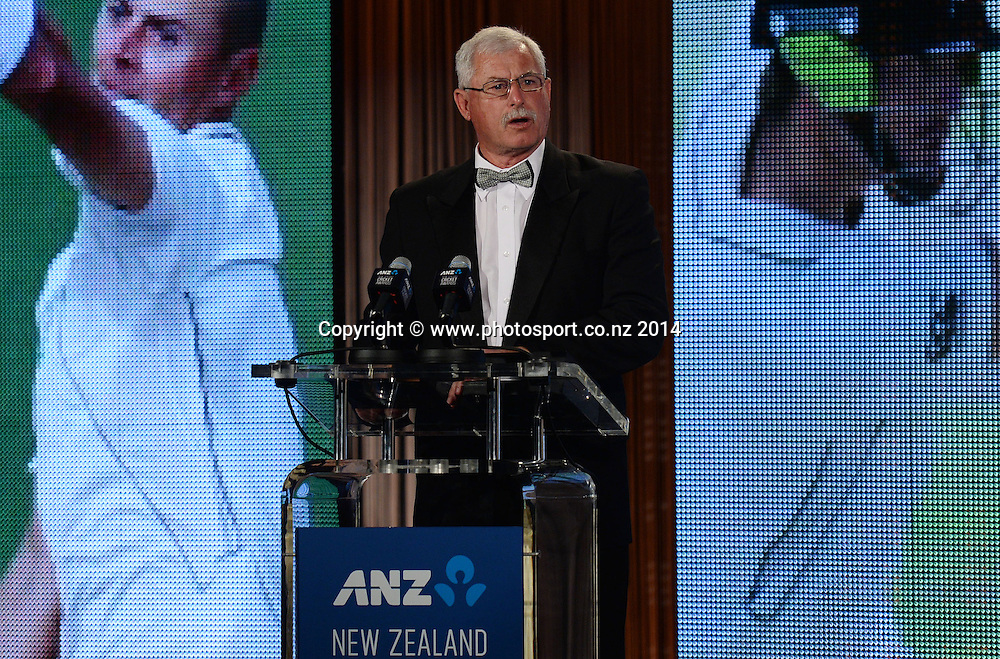 Sir Richard Hadlee at the 2013/14 New Zealand Cricket Annual Awards dinner at the Langham Hotel in Auckland, New Zealand. Photo: Andrew Cornaga/www.Photosport.co.nz
