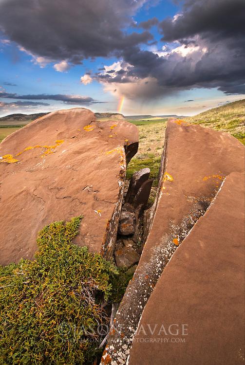 Rainbow near the Rocky Mountain Front.