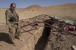 October 21, 2016 - Isis tunnel near Khorsabad. (Credit Image: © Bertalan Feher via ZUMA Wire)