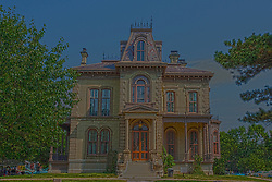 7 August 2010:  David Davis Mansion, Bloomington Illinois<br /> <br /> This image was produced in part utilizing High Dynamic Range (HDR) processes. It should not be used editorially without being listed as an illustration or with a disclaimer. It may or may not be an accurate representation of the scene as originally photographed and the finished image is the creation of the photographer.