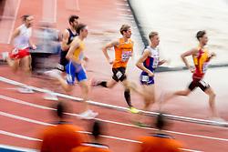 04-02-2017  SRB: European Athletics Championships indoor day 2, Belgrade<br /> Thijmen Kupers heeft op een tactisch sterke manier de finale van de 800 meter bij de Europese indoorkampioenschappen bereikt. De 25-jarige Nederlander, die twee jaar geleden in Praag al brons won op de EK indoor, liep in Belgrado naar de derde plaats in zijn halve finale.
