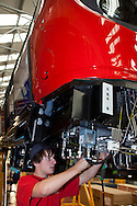 Apprentice working on the SSL, Sub Surface Line Project, production of underground trains. Bombardier, Derby .?.© Martin Jenkinson, tel 0114 258 6808 mobile 07831 189363 email martin@pressphotos.co.uk. Copyright Designs & Patents Act 1988, moral rights asserted credit required. No part of this photo to be stored, reproduced, manipulated or transmitted to third parties by any means without prior written permission