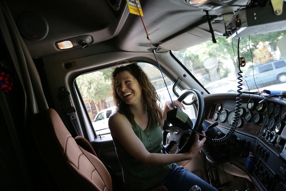 Champion Driving School >> female film maker truck driver.JPG | Bryan Patrick Photography