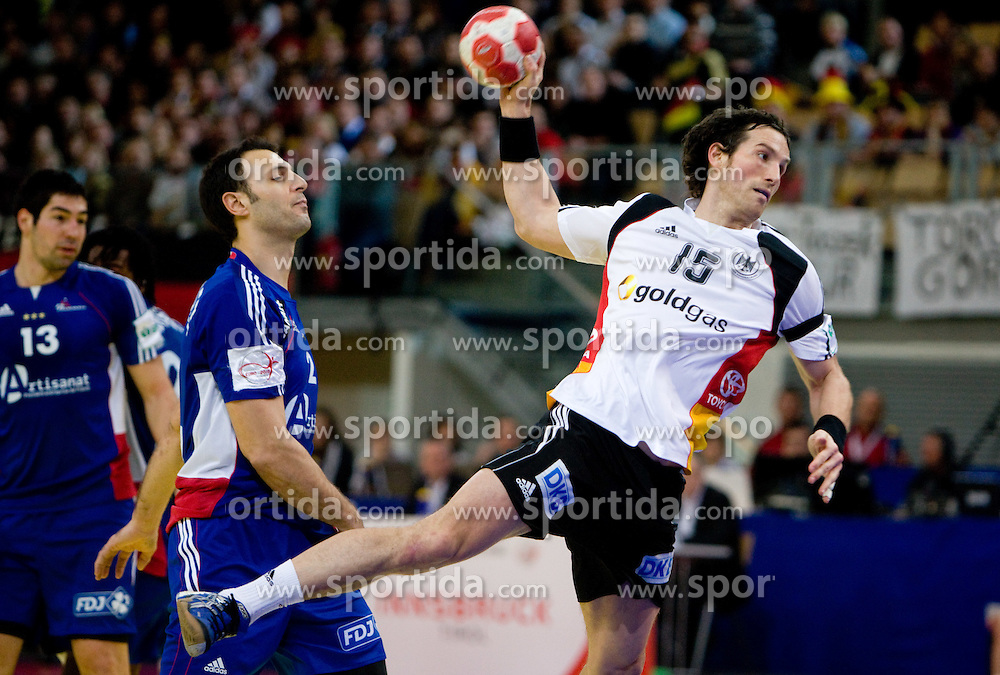 Torsten Jansen of Germany during the Men's Handball European Championship Main Round match between Germany and France at the Olympia Hall on January 24, 2009 in Innsbruck, Austria. (Photo by Vid Ponikvar / Sportida) - on January 2010