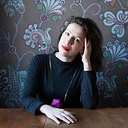 Warsaw, Poland, March 23, 2013. Agata Nowicka, Polish Illustrator.<br /> <br /> .